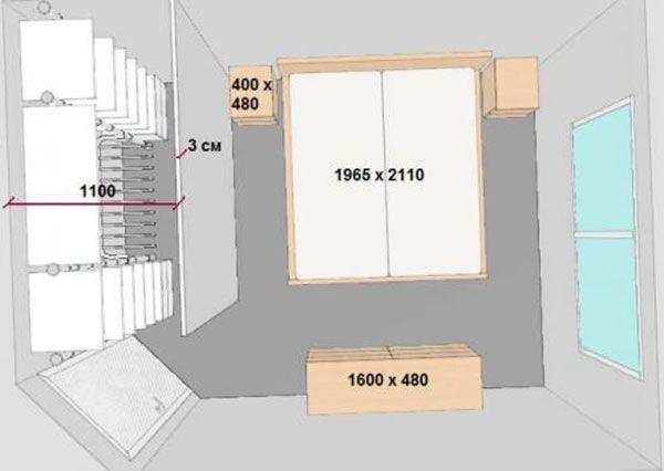 Фото чертежа помещения ,выполнение замеров