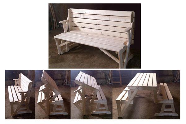 Фото сборки скамейки трансформера