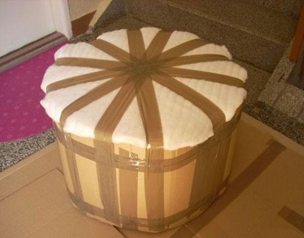 Фото обработки бокового изделия картоном