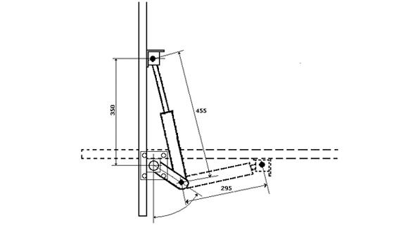 Схема откидной кровати