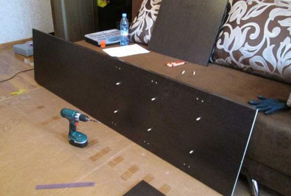 Фото крепление бокового полотна шкафа трансформера
