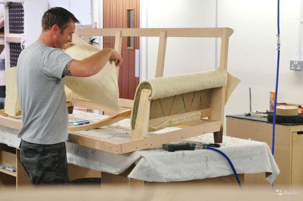 Фото завершающего этапа в изготовлении мебели дома
