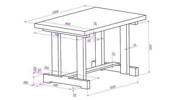 Столик для дачи