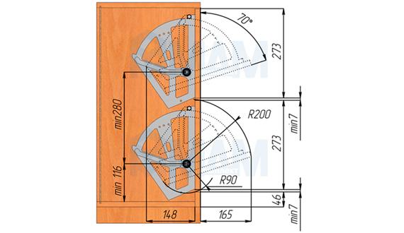 Схема тумбы для обуви