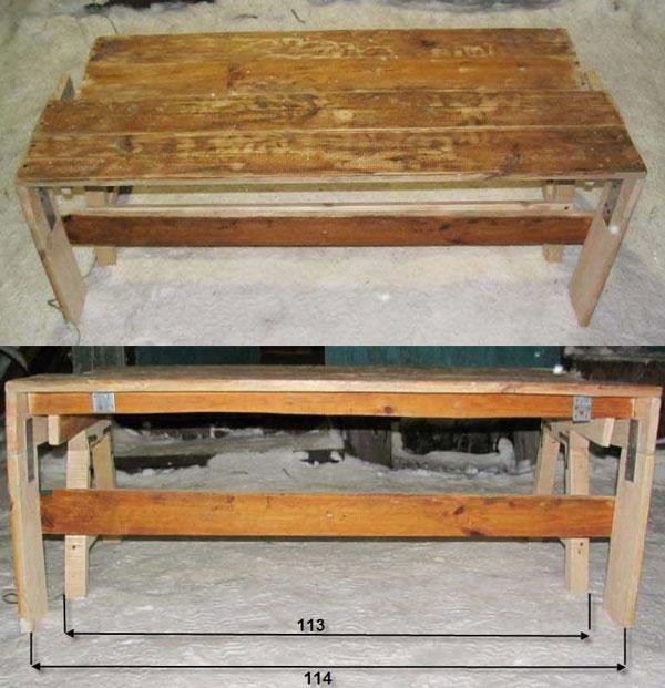 Фото стола скамейки трансформера