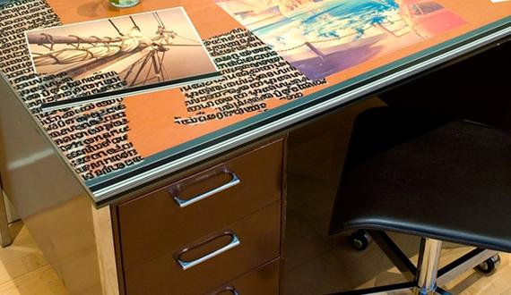 Декупаж письменного стола