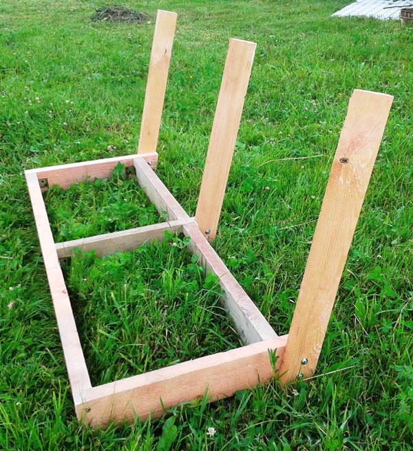 Фото каркаса сиденья садовых качель