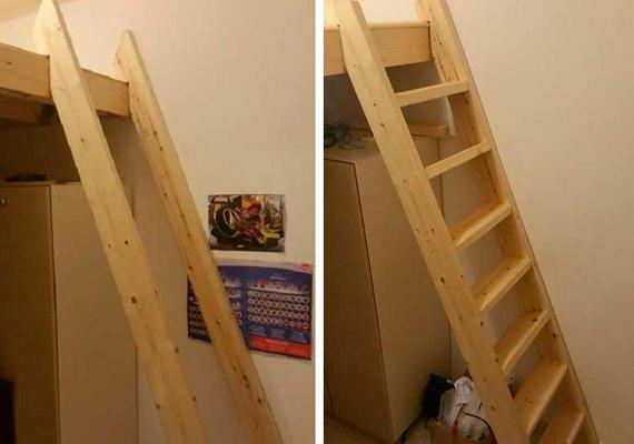 Лестница к кровати