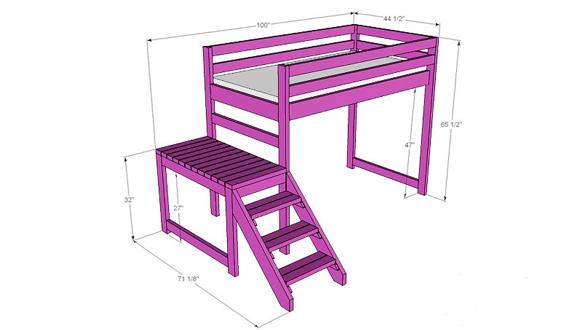 Кровать-чердак схема