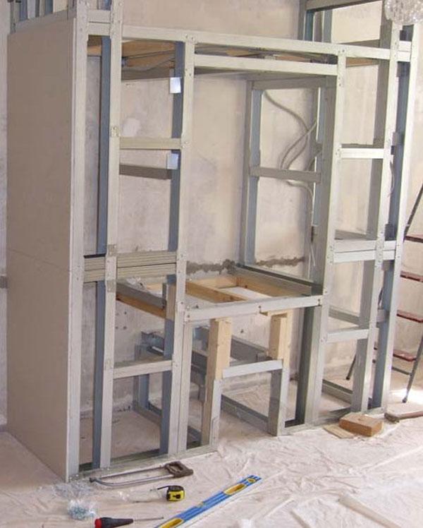 Фото монтаж конструкции шкафа купе
