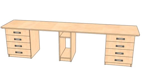 Письменный стол на двоих