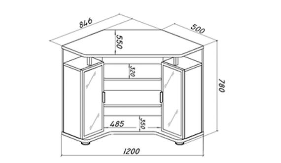 Схема угловой тумбы