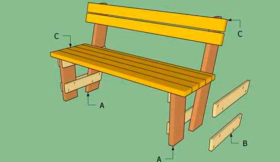 Скамейка со спинко