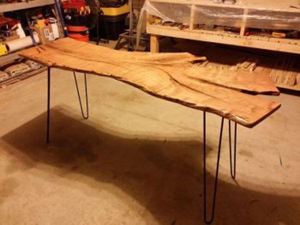 Фото стола своими руками из спила дерева