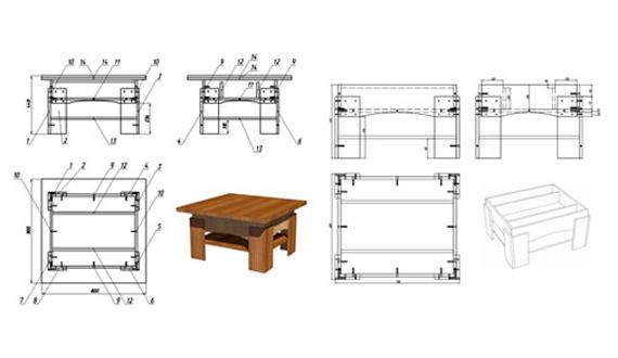 Столик чертеж