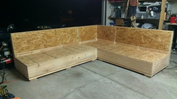 Изготовление основания для углового дивана