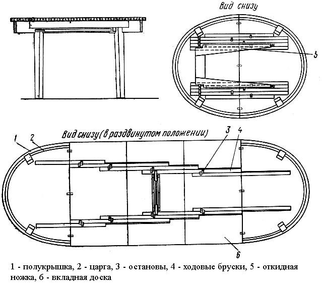 Изготовление раздвижного стола