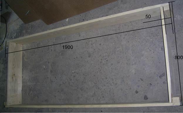 Изготовление каркасов изделия и ящика для белья