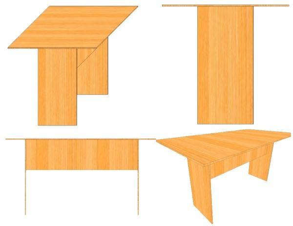 Эскиз обычного обеденного стола из фанеры