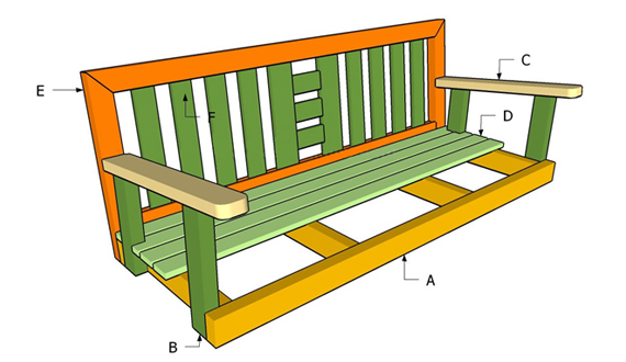 Сидение дивана-качели