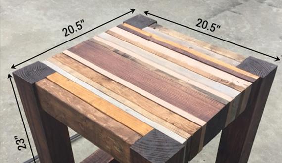 Размеры столика