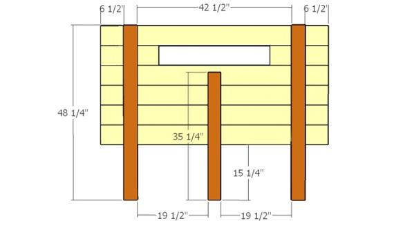 Размеры спинки