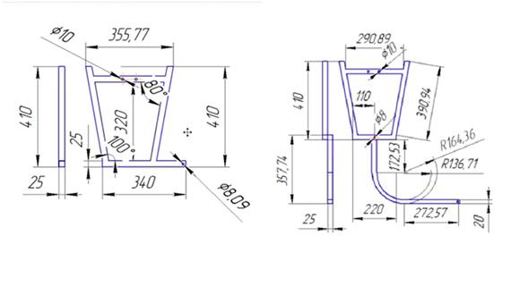 Размеры складной скамейки