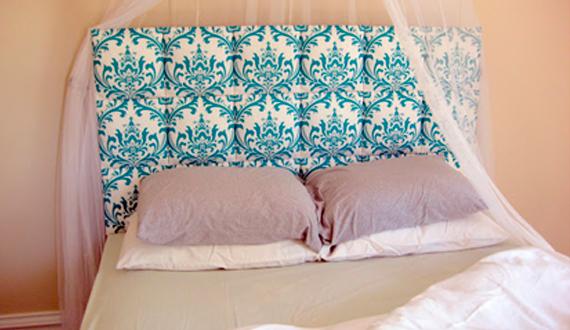 Оббитая кровать