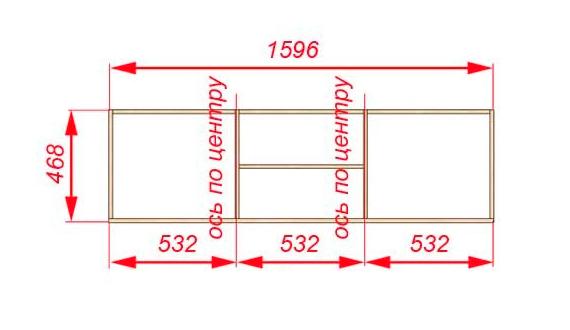 Схема тумбы