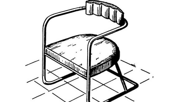 Кресло на металлическом каркасе