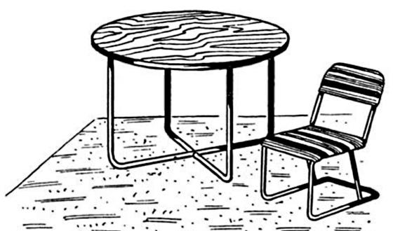 Стол на металлическом каркасе