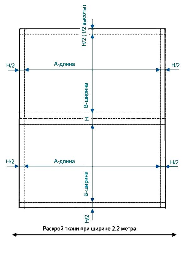 Схема матраса