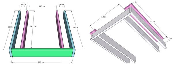 Схема ножек