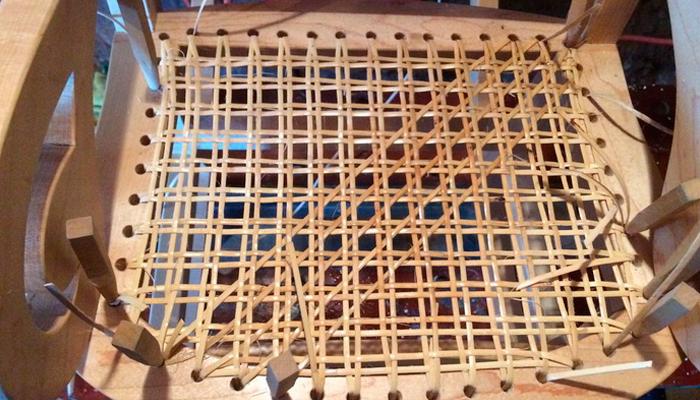 Плетение кресла