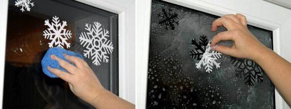 Красиво и необычно украшаем окна к Новому году 2021