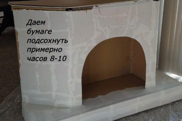 Фальш-камин из коробок на Новый год: пошаговые идеи