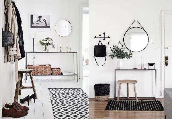Интерьер прихожей в скандинавском стиле