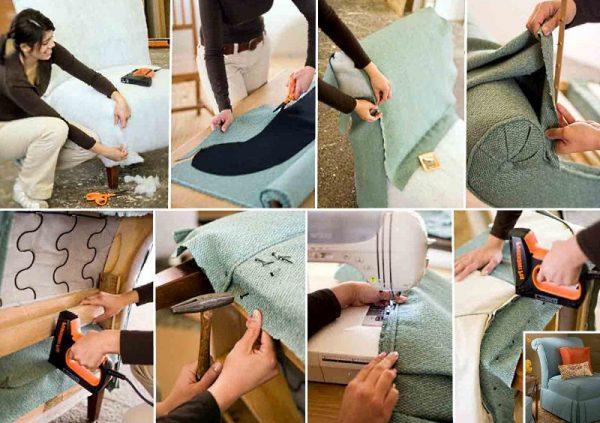 Как обшить мягкую мебель кожей