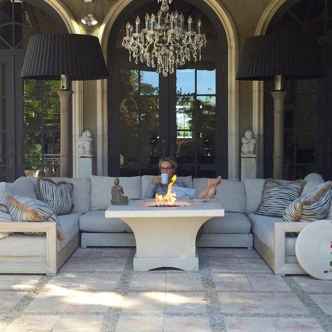 Как выглядит роскошный дом Шерон Стоун