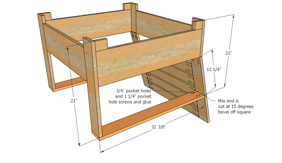 Cottage furniture: drawings, ideas, instructions for beginners.