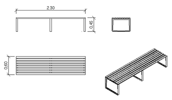 Do it yourself metal bench: construction plans