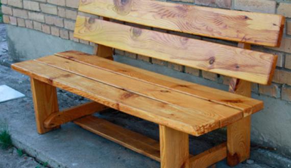 Деревянная скамейка со спинкой своими руками фото 944