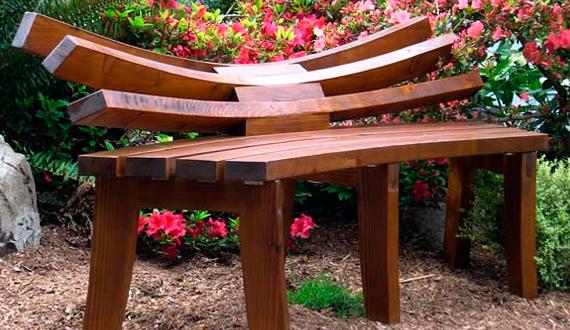 Деревянная скамейка со спинкой своими руками фото 585
