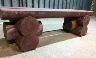 skamja-iz-breven-svoimi-rukami-400x242 Как сделать скамейку из бревен своими руками за несколько часов