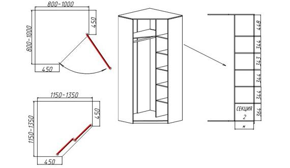 сделайте угловой шкаф своими руками по чертежам и инструкциям