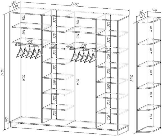 встроенный шкаф купе своими руками задача для мастера