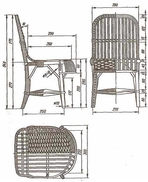 Как сплести дачную мебель из ротанга своими руками