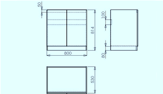 Curb under the sink for the kitchen: drawings, instructions