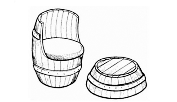 Chair to give the hands of a tree: designs and decoration.