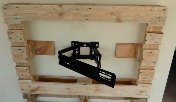 Shelf for the TV on the wall. Do it yourself, no problem.